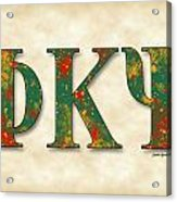Phi Kappa Psi - Parchment Acrylic Print