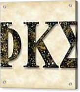 Phi Kappa Sigma - Parchment Acrylic Print