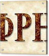 Phi Rho Eta - Parchment Acrylic Print