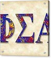 Phi Sigma Alpha - Parchment Acrylic Print