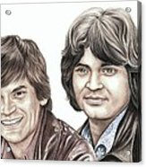 Phil And Don Everly Acrylic Print