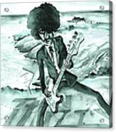 Phil Lynott In Howth Acrylic Print