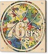Philadelphia 76ers Retro Poster Acrylic Print