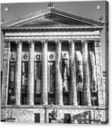 Philadelphia Art Museum Back 1 Bw Acrylic Print