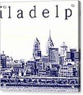 Philadelphia Blueprint  Acrylic Print