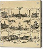 Philadelphia By James Fuller Queen Acrylic Print