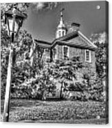 Philadelphia Carpenter's Hall East Side 4 Bw Acrylic Print
