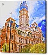 Philadelphia City Hall - Hdr Acrylic Print