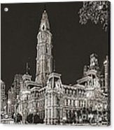 Philadelphia City Hall Mono Acrylic Print