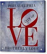 Philadelphia City Of Brotherly Love  Acrylic Print