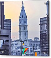 Philadelphia Cityhall In The Morning Acrylic Print