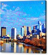 Philadelphia Cityscape Rendering Acrylic Print