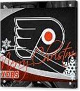 Philadelphia Flyers Christmas Acrylic Print
