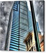 Philadelphia Liberty Place Tower And Street Lamp 1 Acrylic Print