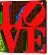 Philadelphia Love - Painterly V1 Acrylic Print