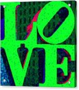 Philadelphia Love - Painterly V3 Acrylic Print by Wingsdomain Art and Photography