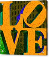 Philadelphia Love - Painterly V4 Acrylic Print by Wingsdomain Art and Photography