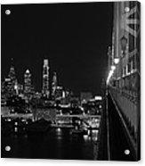 Philadelphia Night B/w Acrylic Print