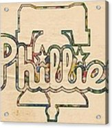 Philadelphia Phillies Logo Art Acrylic Print