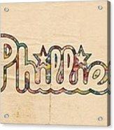 Philadelphia Phillies Poster Art Acrylic Print