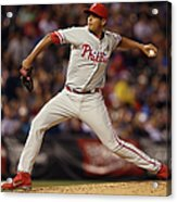 Philadelphia Phillies V Colorado Rockies Acrylic Print
