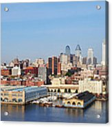 Philadelphia River View Acrylic Print by Bill Cannon