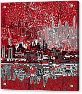 Philadelphia Skyline Abstract 4 Acrylic Print by Bekim Art