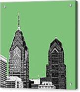 Philadelphia Skyline Liberty Place 2 - Apple Acrylic Print