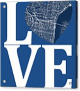 Philadelphia Street Map Love - Philadelphia Pennsylvania Texas R Acrylic Print