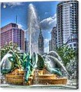 Philadelphia  Swan Fountain 1 Acrylic Print