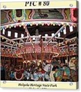 Philadelphia Toboggan Company Carousel Acrylic Print