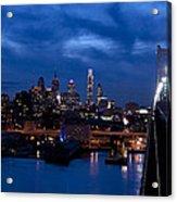 Philadelphia Twilight Acrylic Print