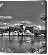 Philadelphia Water Works And Art Museum 2 Bw Acrylic Print