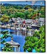 Philadelphia -waterworks And Boat House Row And Zoo Balloon Acrylic Print