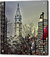Philadelphia's Iconic City Hall Acrylic Print by Bill Cannon
