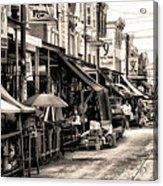 Philadelphia's Italian Market Acrylic Print by Bill Cannon