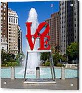 Philadelphia's Love Park Acrylic Print