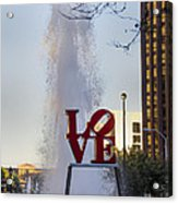 Philadelphia's Love Story Acrylic Print
