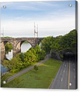 Philadelphia's Rock Tunnel - Kelly Drive Acrylic Print