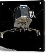 Philae Lander Descending To Comet 67pc-g Acrylic Print