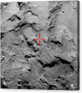 Philae Lander Touchdown Point On Comet Acrylic Print