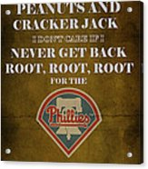 Phillies Peanuts And Cracker Jack  Acrylic Print by Movie Poster Prints