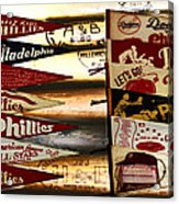 Phillies Pennants Acrylic Print