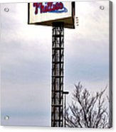 Phillies Stadium Sign Acrylic Print by Bill Cannon