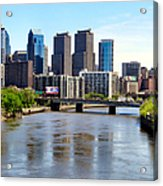 Philly Bridges Buildings Acrylic Print