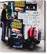 Philly Cheese Steak Cart Acrylic Print
