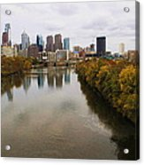 Philly Fall River View Acrylic Print