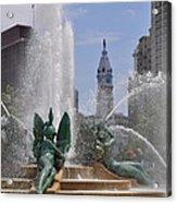 Philly Fountain Acrylic Print
