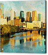 Philly Gleamin Acrylic Print