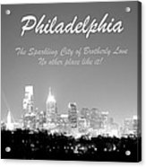 Philly Glow Acrylic Print